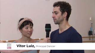 Vitor Luiz, brasileiro e primeiro bailarino
