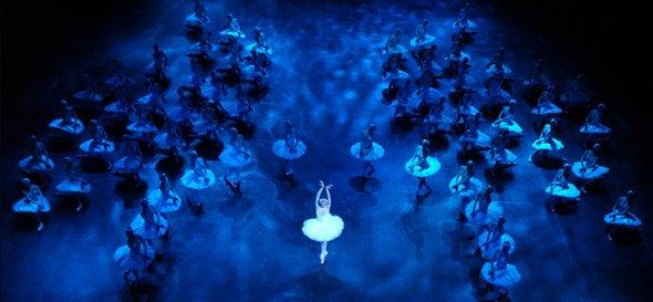 """""""Sensação de caleidoscópio"""" ou 3D? Foto: English National Ballet"""