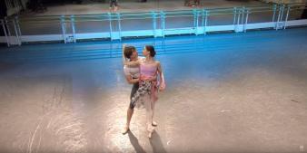 Ensaio de La Fille Mal Gardée com Marianela e Vadim