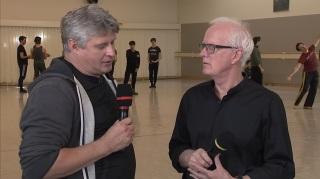 Yuri Possokhov fala com o diretor artístico Helgi Tomasson sobre o novo repertório