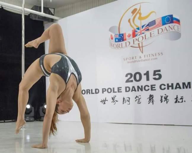 Erika no Mundial da China, em 2015
